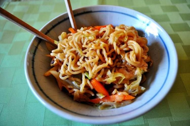 Chicken and noodles make great stirfry cabbage noodles