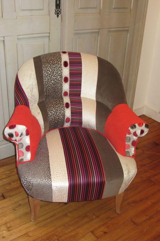 fauteuil crapaud r nov tissus ray st germain des pr s de sonia rykiel zelda de o l pulse. Black Bedroom Furniture Sets. Home Design Ideas