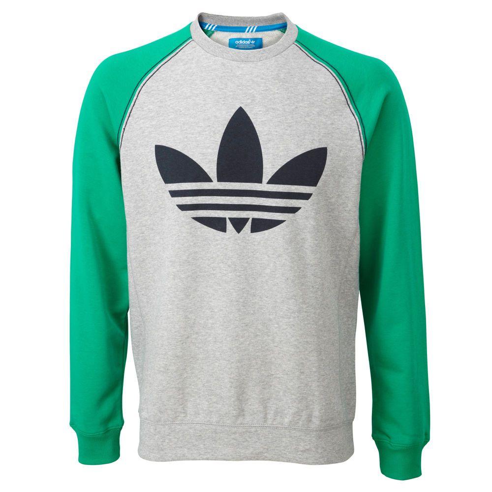 4e98b536bec0 adidas Originals Mens Sport Lite Crew Neck Sweatshirt Jumper Sweater Top New