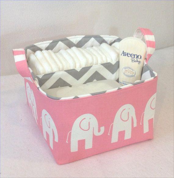 New Lg Diaper Caddy 10 Quot X10 Quot X7 Quot Fabric Storage Bin