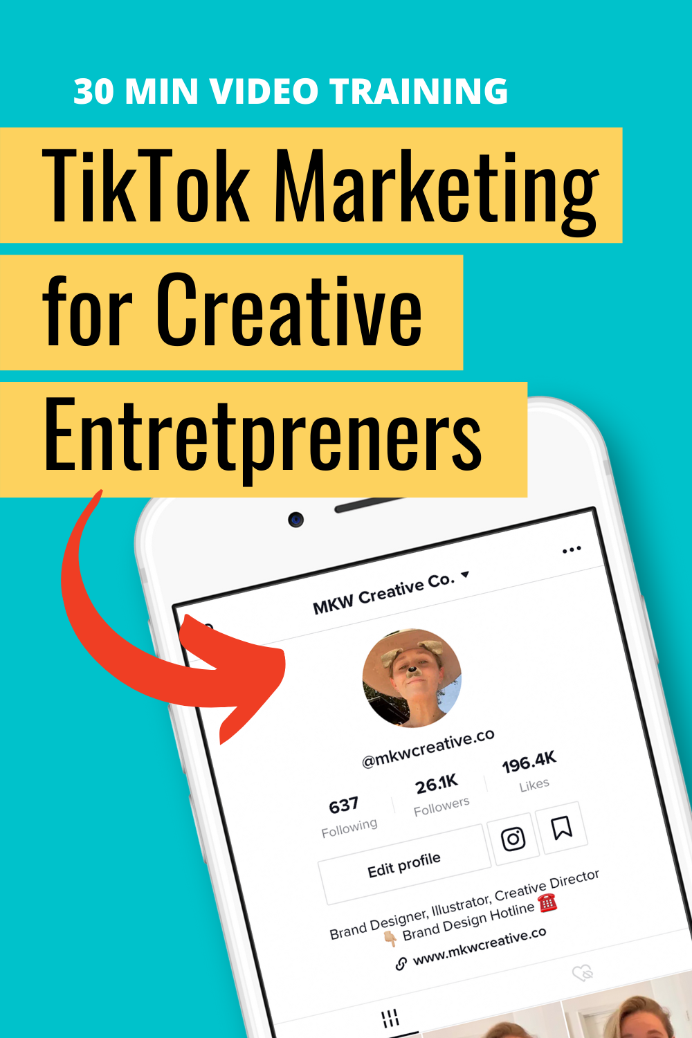 Tiktok For Business Video Training Mkw Creative Co Personal Marketing Business Video Social Media Advice