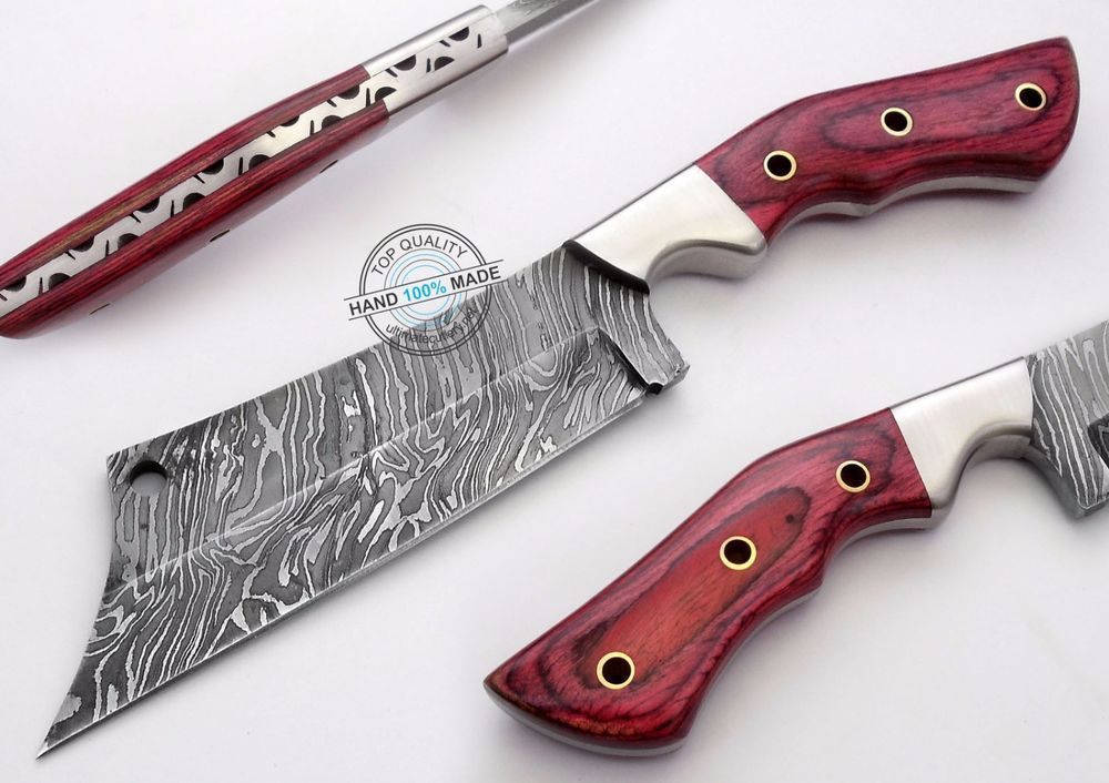 "10.25"" Custom hand made Beautiful Damascus Cleaver hunting Knife (AA-0265-7)…"