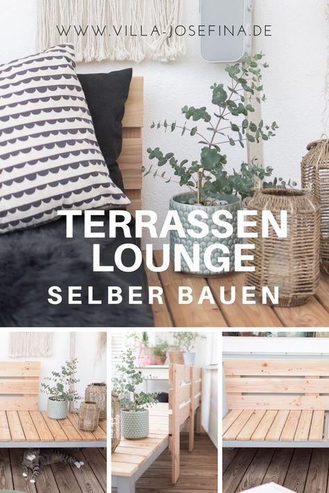 Terrassen Lounge selber bauen Pinterest