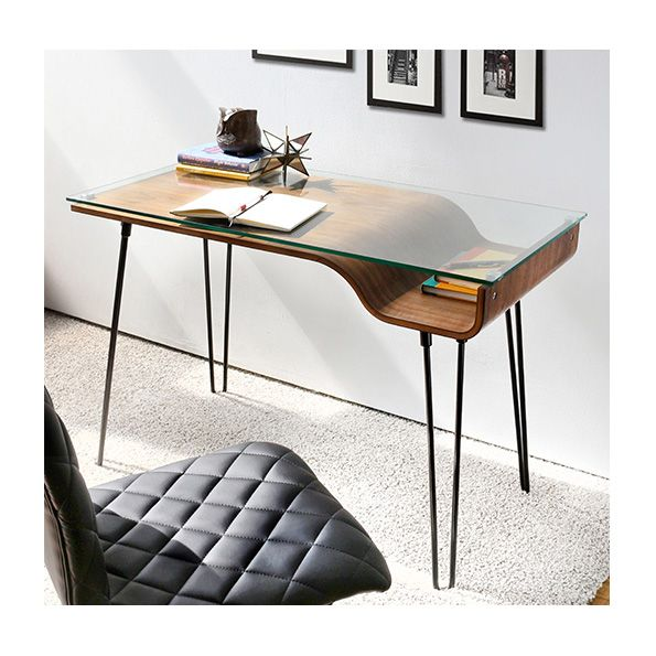 Avenue Desk | Contemporary desk, Office workspace and Hairpin legs