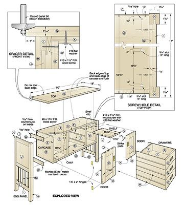 Exceptional Buffet Table Plans Woodworking Projects And Plans