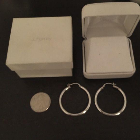 1ff78e44b White gold 14k hoops Never worn jcpenney Jewelry Earrings | My Posh ...