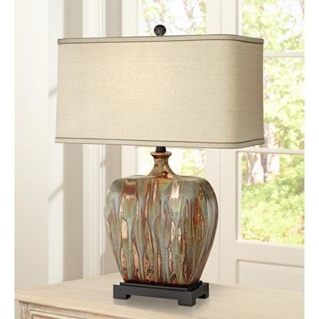 Julius Copper Drip Finish Ceramic Table Lamp 8j096