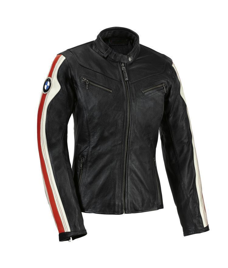 Ladies BMW Motorcycle Leather Jacket Racing Motorbike Cowhide Leather Jacket