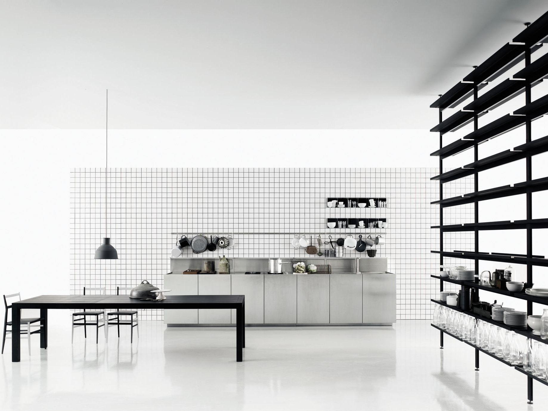 zeilen kche aus edelstahl k20 by boffi design norbert wangen - Design Edelstahl Kchen