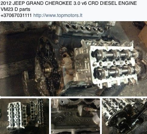 2012 jeep grand cherokee 3 0 crd v6 diesel engine vm23 d for Jeep with diesel motor