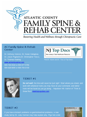 b10743d667b Check out this Mad Mimi newsletter. Healthy Tidbits from AC Family Spine   chiropractic  health