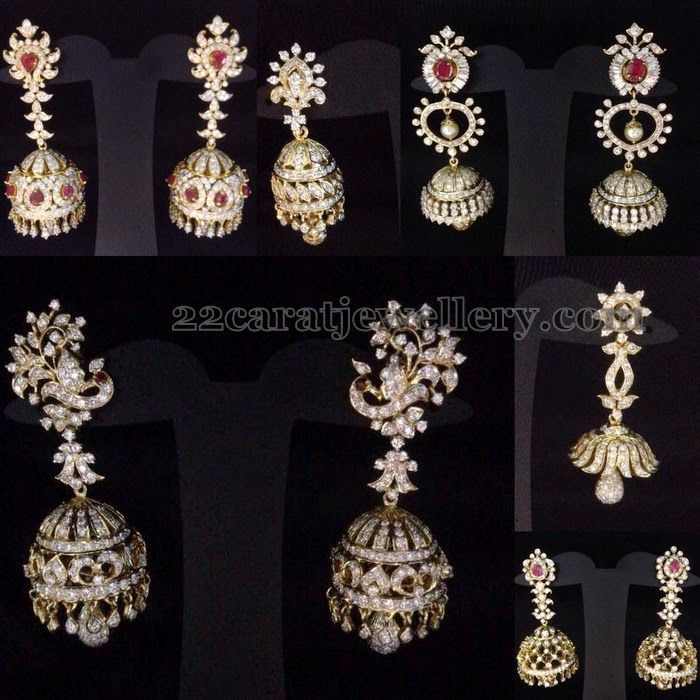 2a9e665ff Diamond Jhumkas New Collection | Stuff to Buy | Diamond jhumkas ...