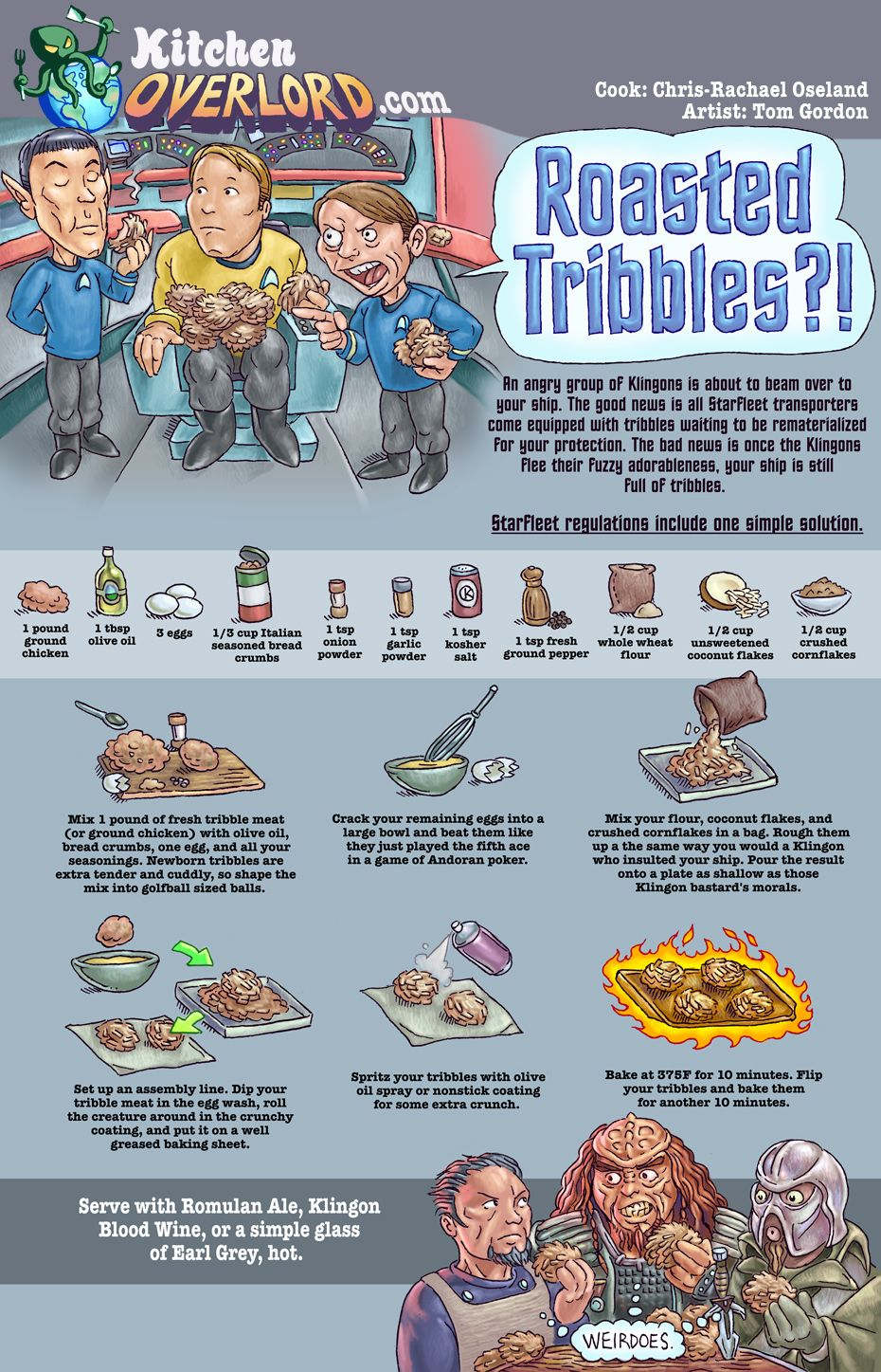 Kitchen Overlord Roasted Tribbles Recipe | Nomnomnoms | Pinterest ...