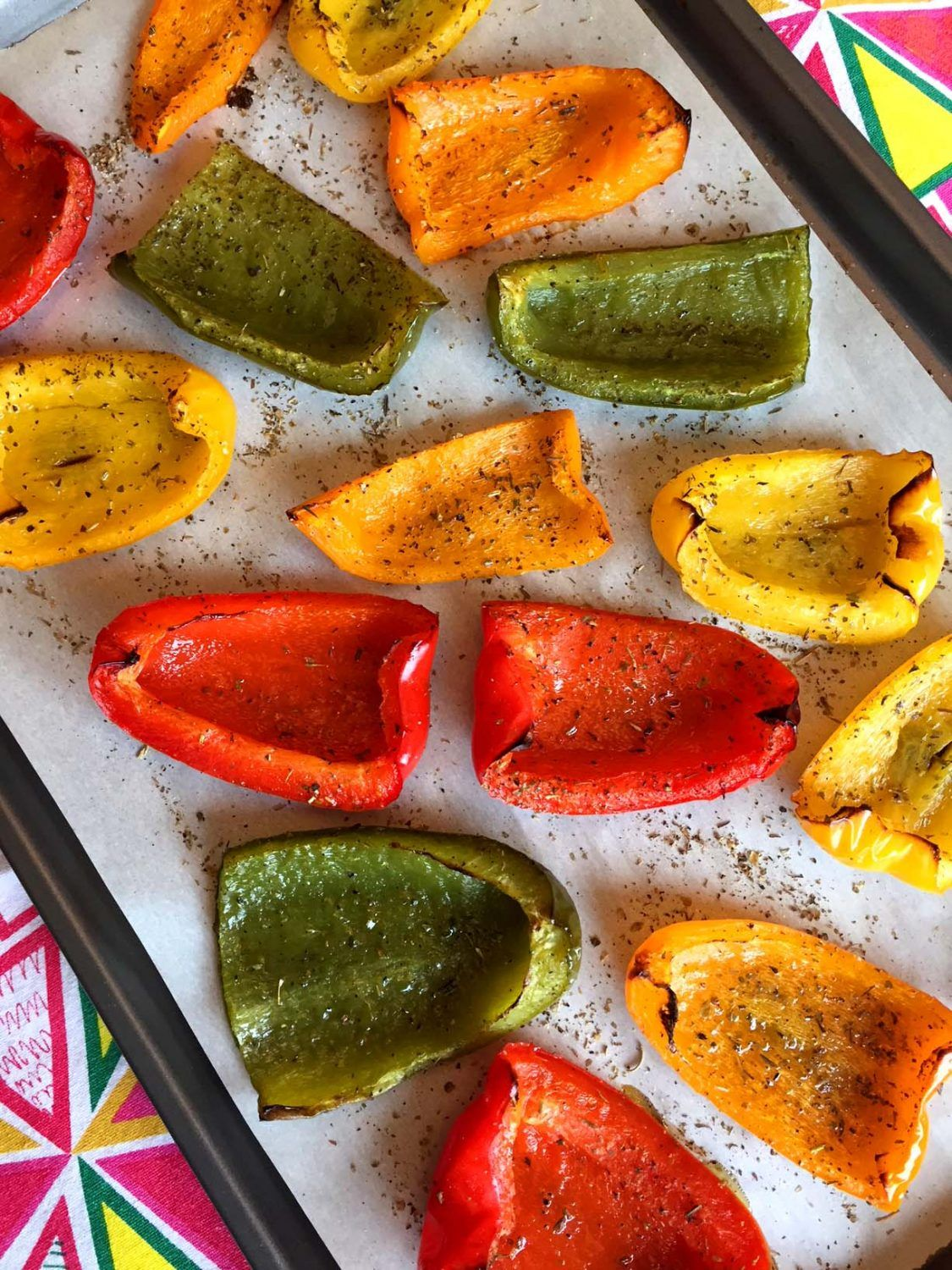 Oven Roasted Bell Peppers #bellpeppers