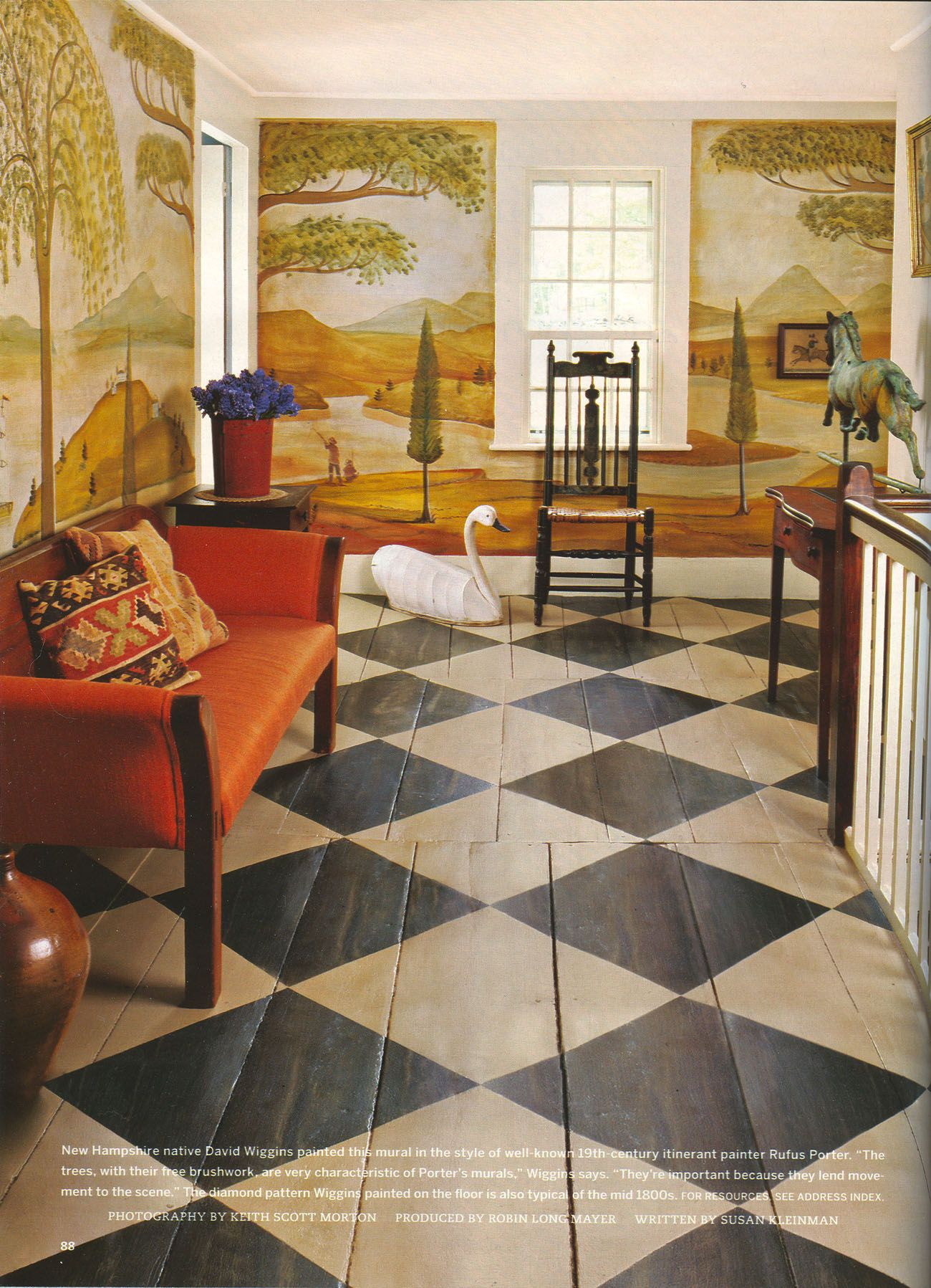 Love This Wood Painted Black And White Floor Would Be
