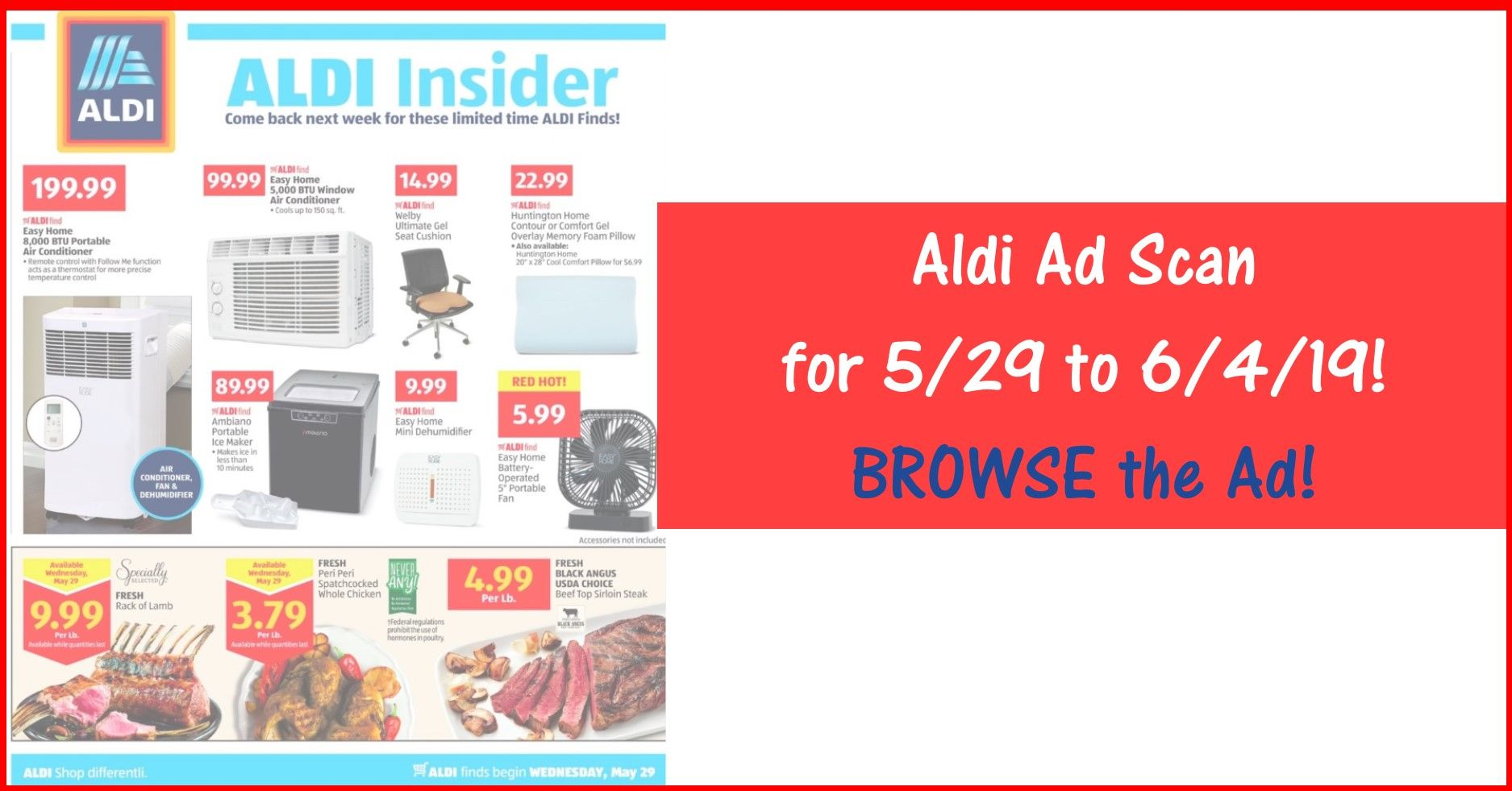 Aldi Weekly Ad 5/29/19 - 6/4/19 ~ Aldi Ad Preview Sneak Peek
