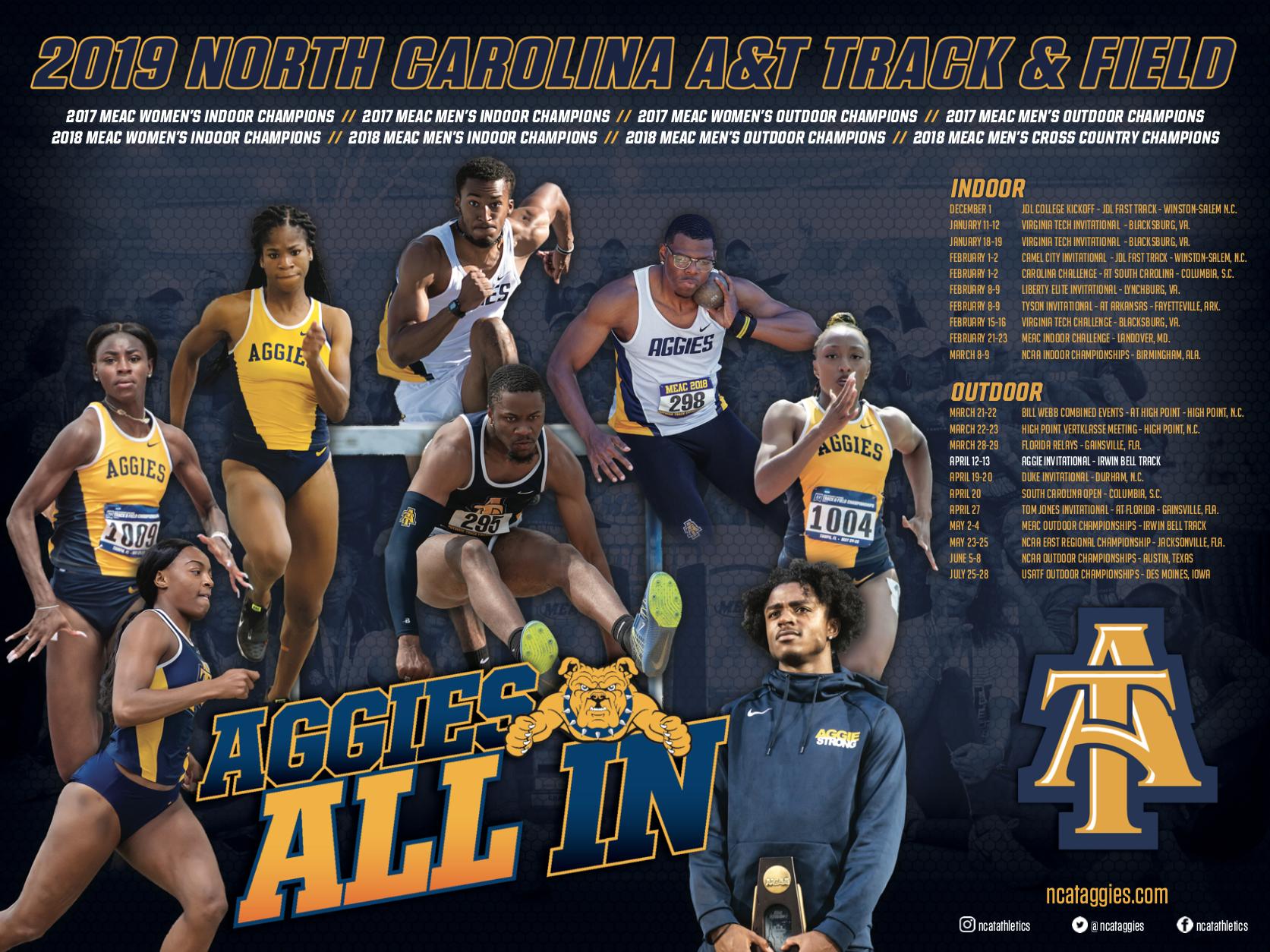 North Carolina A T Track Field Poster Track And Field T Track North Carolina