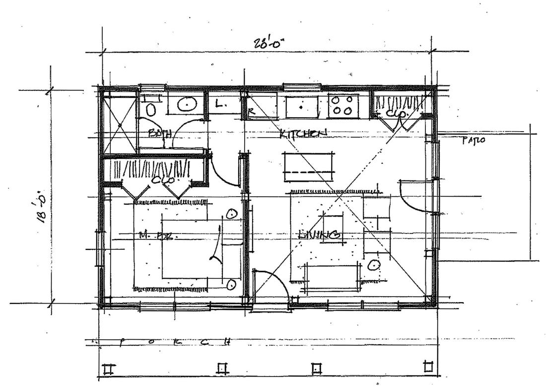 Creole Cottage House Plans Plan Hideaway 18x28 Orig Floor Small New Orleans With Walkout Basement Daylight C Cottage Floor Plans Pool House Plans Floor Plans
