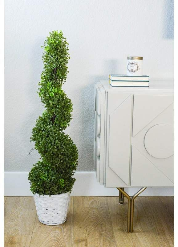 36 Artificial Boxwood Topiary Plant In Pot Potted Trees Artificial Boxwood Topiary Trees