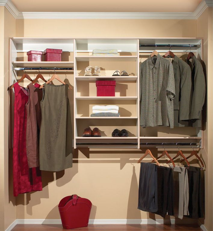 reach in closet design ideas traditional hinged swinging door - Reach In Closet Design Ideas