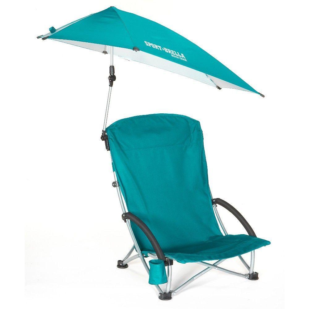 Sport Brella Beach Chair Portable Umbrella Chair Aqua