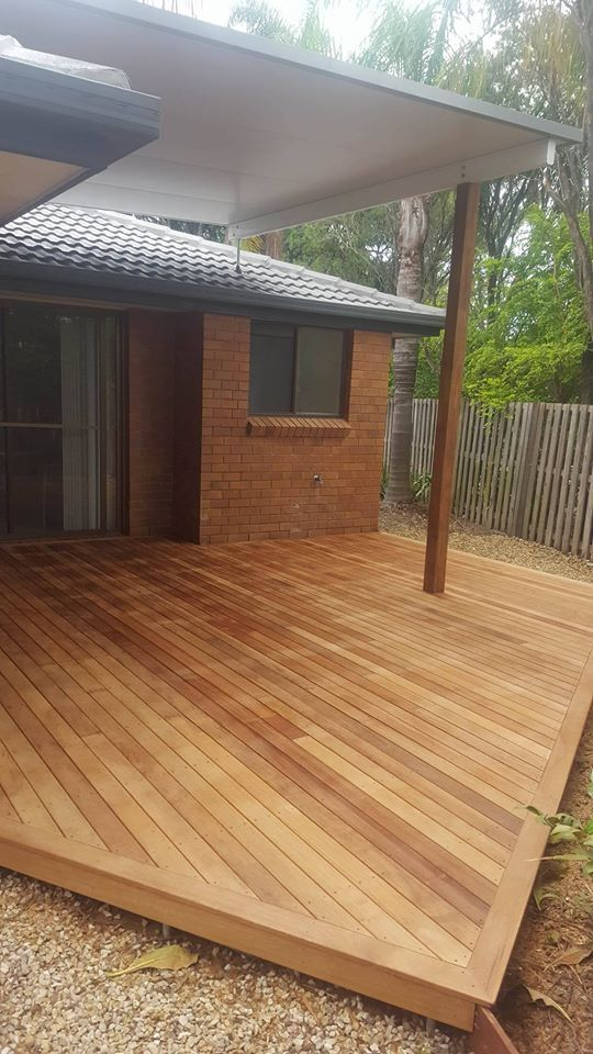 Custom Made Triangular Deck And Insulated Patio Roofing