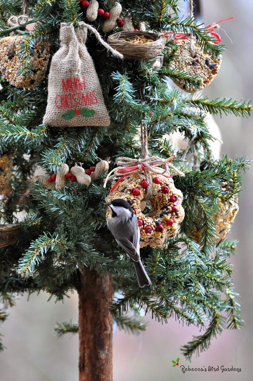 natural bird seed ornament tree - Bird Christmas Tree Decorations