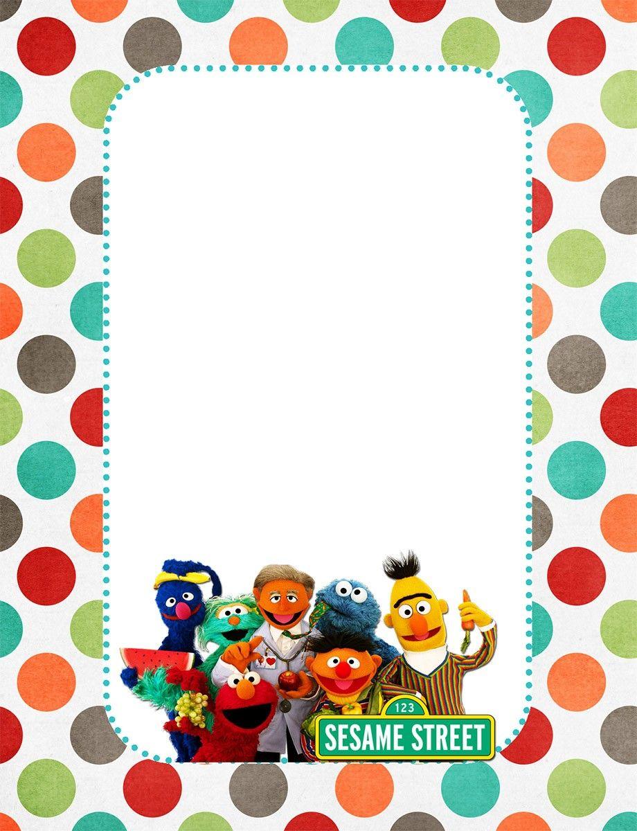 Free Sesame Street Invitation Card | Coolest Invitation Templates ...