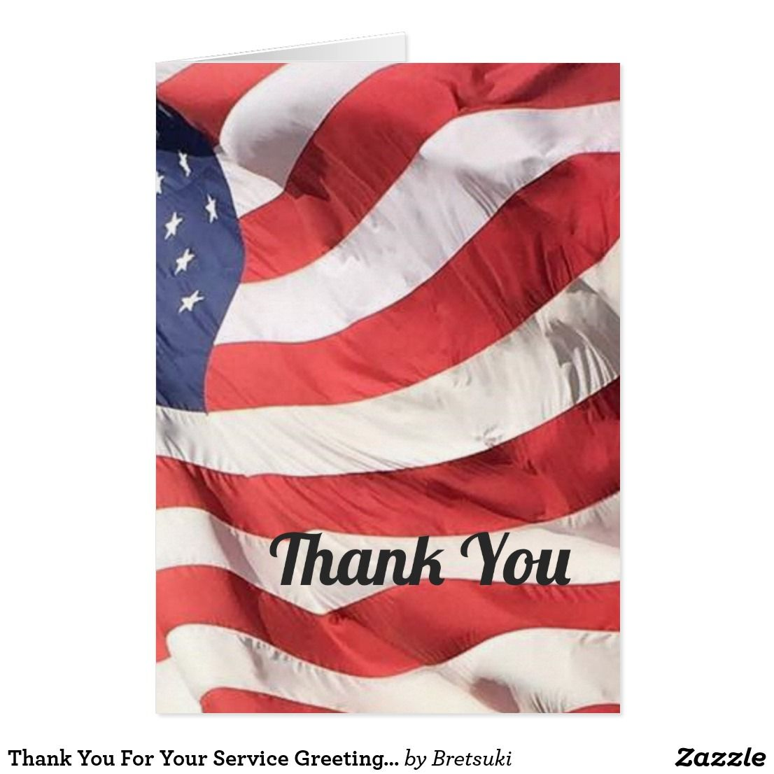 Thank You For Your Service Greetings Card