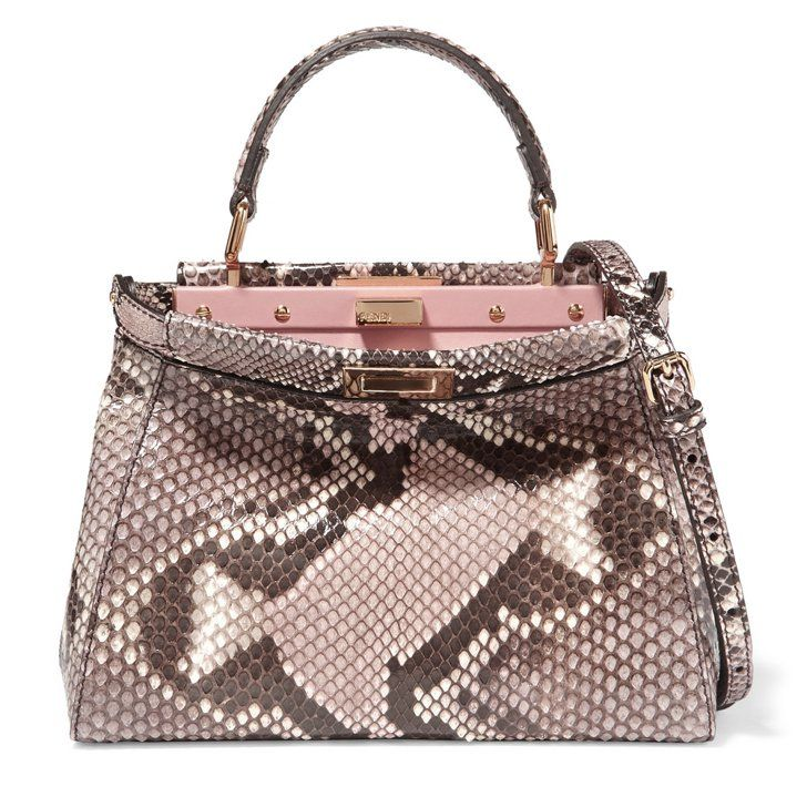 a86385a876d2 ... discount code for the ultimate guide to falls hottest handbag trends  fendi peekaboo mini python shoulder ...