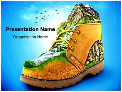 Mountaineering Shoes Powerpoint Template Is One Of The Best
