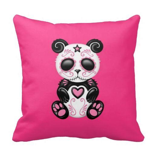 Pink Zombie Sugar Panda Pillow