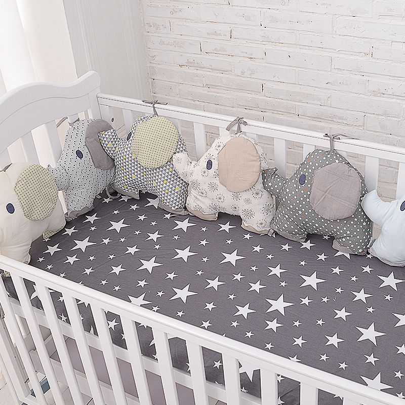 New Style Baby Bed Backrest Cushion Aimal Elephant Crib Bumpers Soft Infant  Bed Around Protection Plush