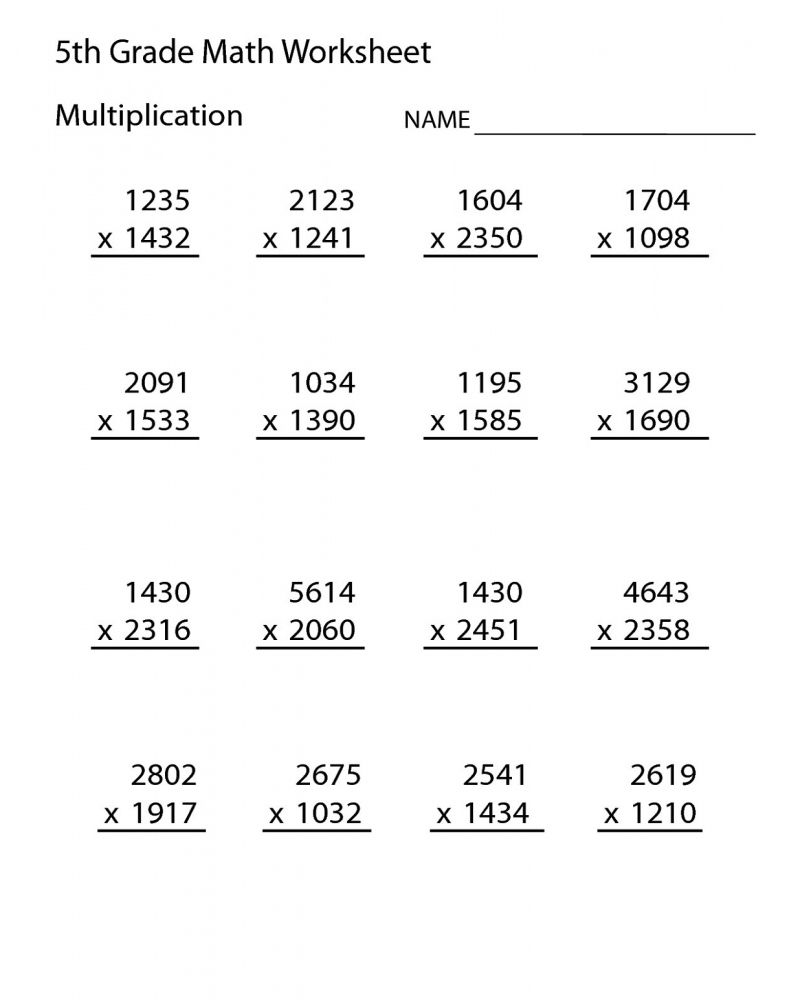 Pin on FREE 5th Grade Math Worksheets Printable [ 1000 x 800 Pixel ]