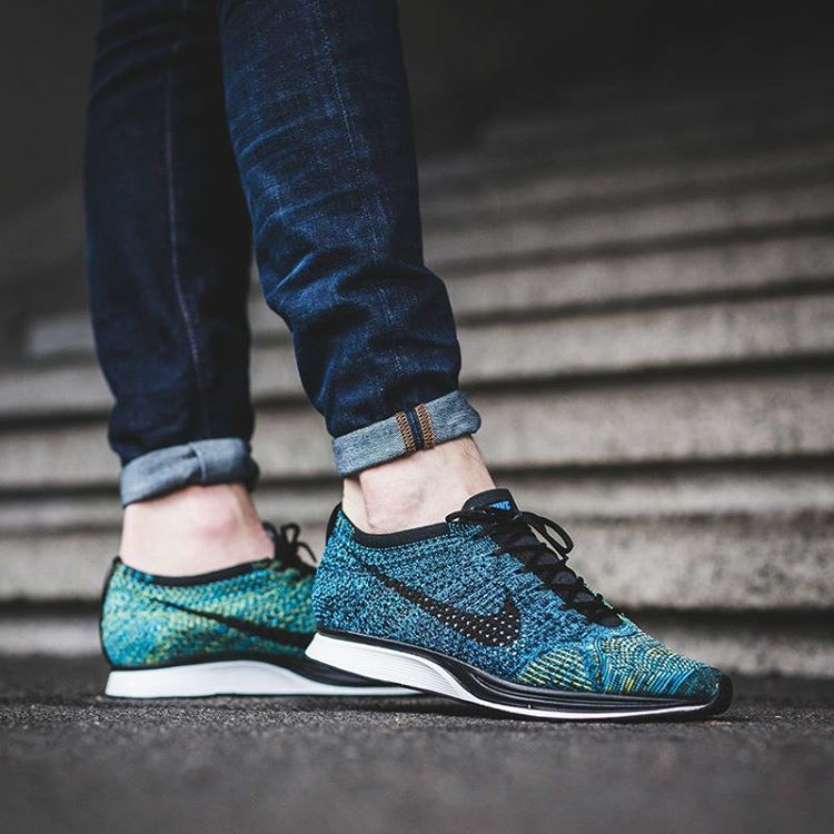 """ce915167a7870 Shelflife Store ( shelflifestore) on Instagram  """"The Nike Flyknit Racer  Crew Blue - would you Cop or Drop """""""