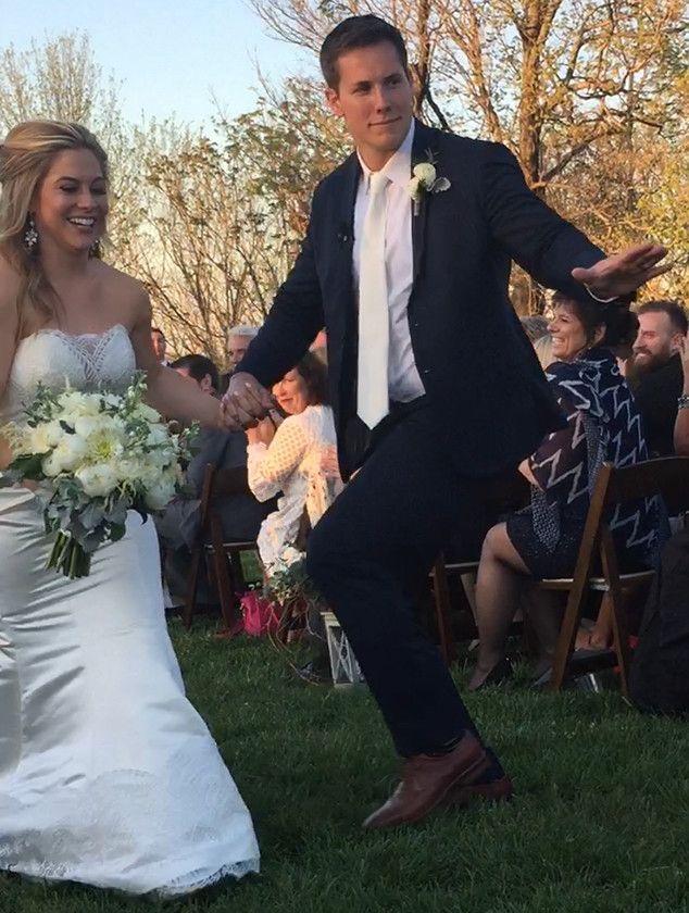 Shawn Johnson & Andrew East Are So Cute Walking Down the ... Nastia Liukin Wedding