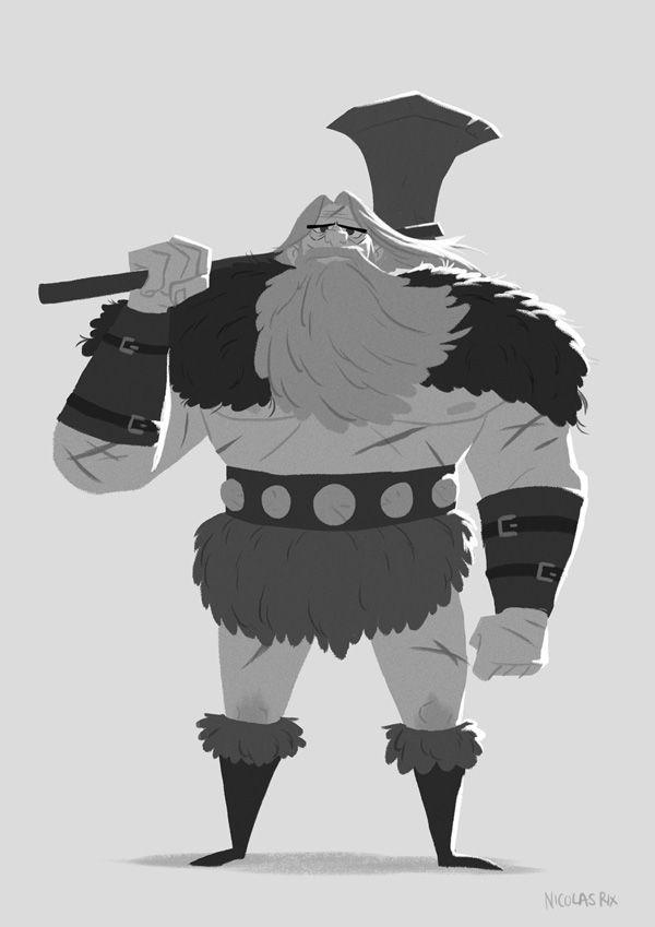 Barbarian by Nicolas Rix. #illustration #character design