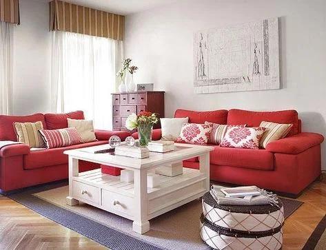 41 Desain Inspiratif Interior Ruang Tamu Minimalis Modern Bernuansa Merah Putih Ide Sofa Ruang Tamu Dekorasi Ruang Tamu Ruang Keluarga