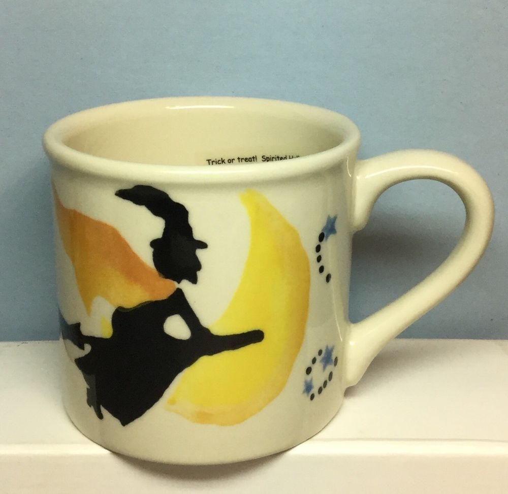 starbucks barista (hartstone, hand-painted) mug / halloween witch