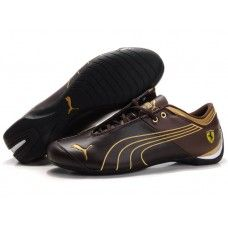 Puma 10th Anniversary Metal Racing Shoes Women Coffee/Golden