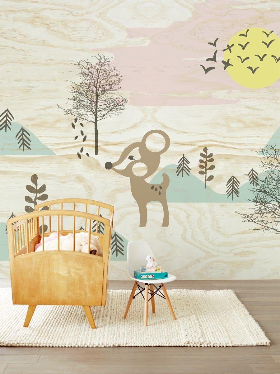 Eijffinger Tout Petit 354157 Bambi in the woods bij Behangwebshop