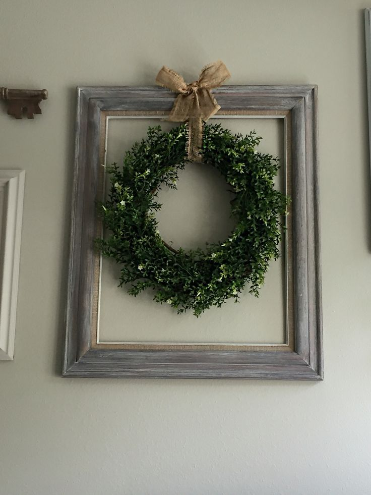 Made this using a goodwill 5.99 dark wood frame I white washed ...