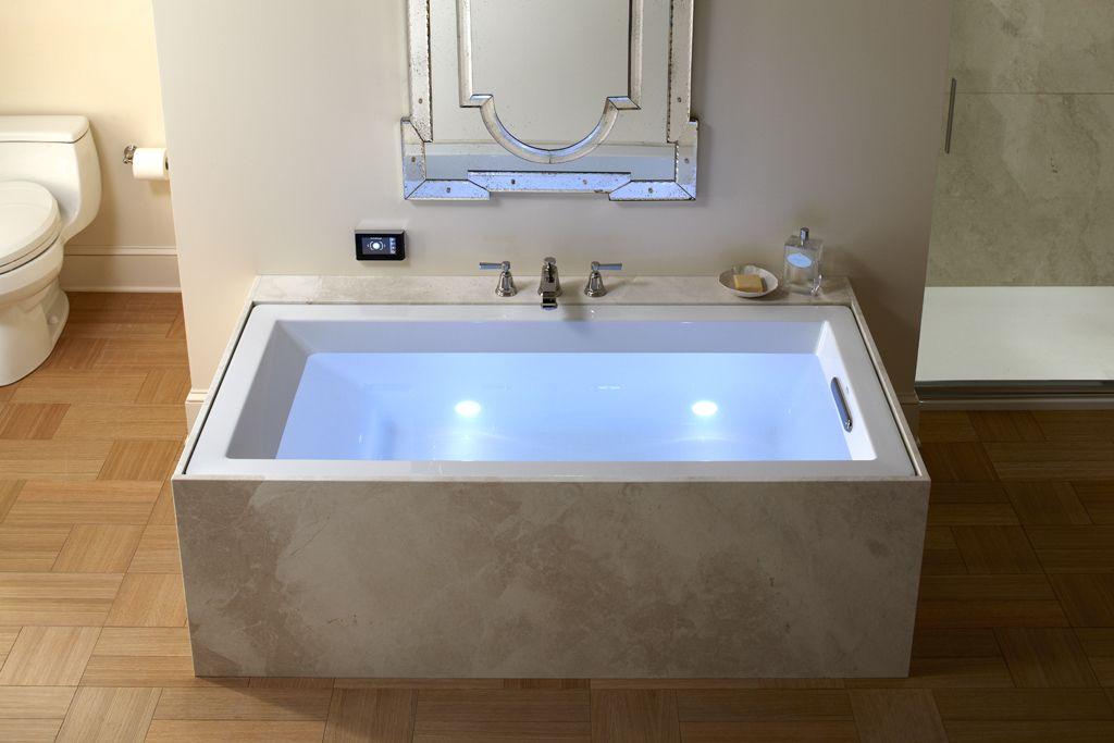 Kohler VibrAcoustic bath with marble enclosure | Kohler Bathroom ...