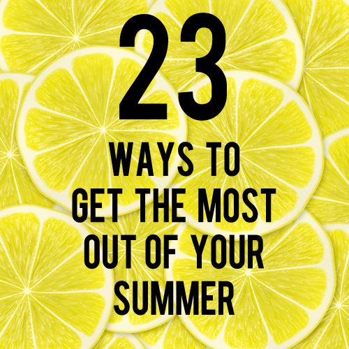 Are you daydreaming of warm summer days now that winter is coming to an end? Get a jump start on making the most of your summer with these tips!