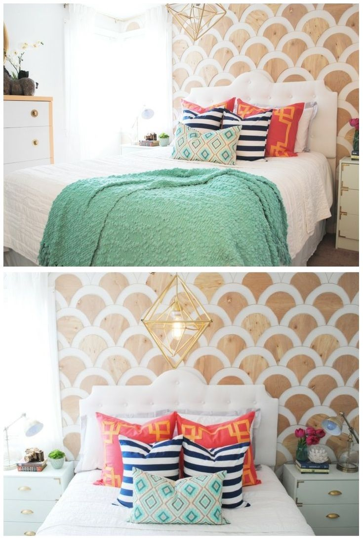Master bedroom wall decor diy  These scallopedwood accent walls are fantastic and a totally do