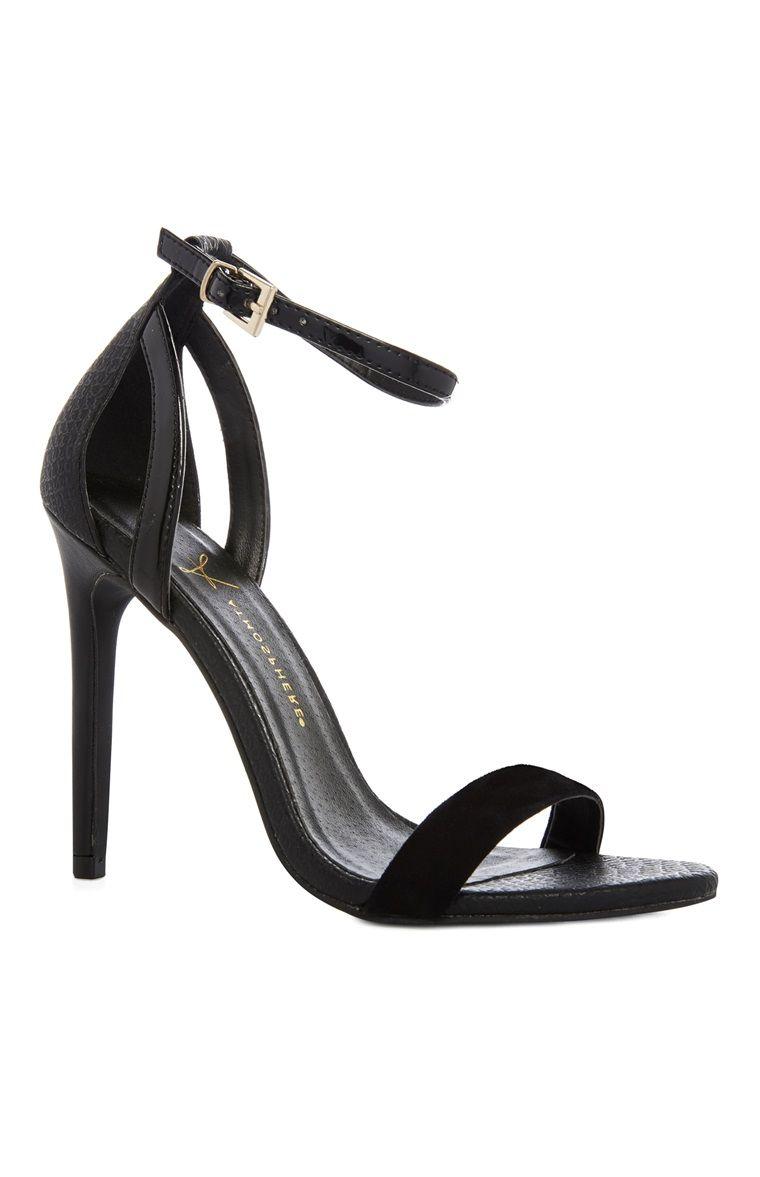 Black sandals primark - Primark Black Single Strap Heel Sandal