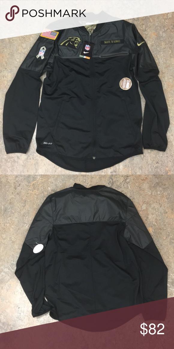 buy online ed1e9 57f3b Carolina Panthers Nike Salute Service Jacket Small Brand new ...