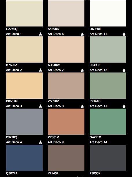 Art deco paint colours: