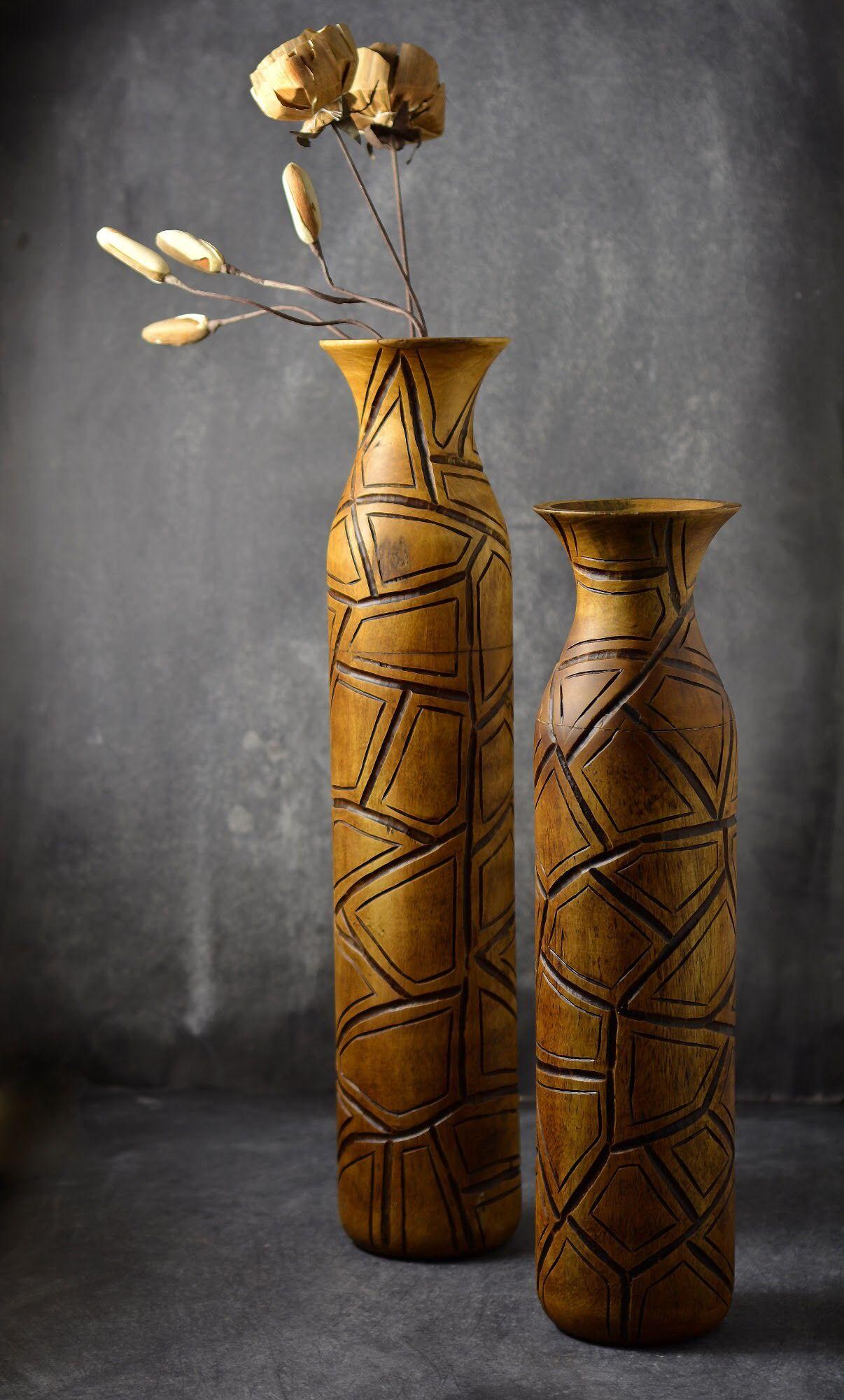 Pin By Deem Home On فازات و مزهريات خشب Vase Decor Home Decor