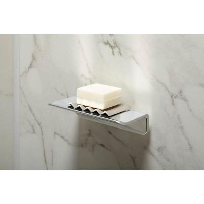 Beautiful Brushed Nickel Shower Shelf  Ideas